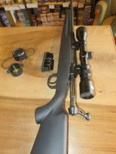 Carabine Savage Axis 22-250 avec lunette Buschnell 3-9X40
