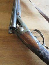 Fusil Manufrance Ideal Super 12/70 canon 70cm Jaspé avec bretelle Automatique, très bon état