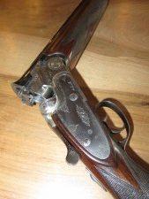 Fusil Beretta SO4 Trap 12/70 Canons 76cm 3/4 et Full, Platine Beretta, 1982, réserve à la clef TBE